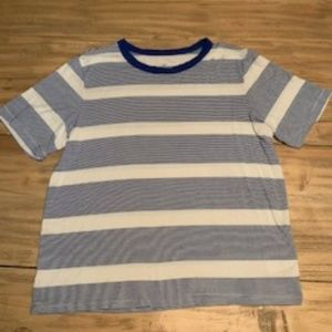 cute blue and white striped top